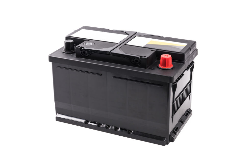 One of the best batteries for car audio against a white background.