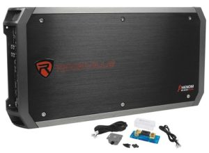 Black rockville rxd monoblock amp.