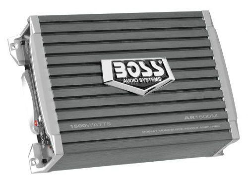 Grey Boss Audio monoblock amplifier.